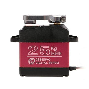 DSSERVO DS3225 25KG 180 डिग्री धातु गियर उच्च टोक़ आर सी हवाई जहाज रोबोट कार के लिए पनरोक डिजिटल सर्वो