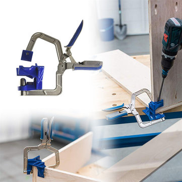 Drillpro Auto-adjustable 90 Degree Corner Clamp Face Frame Clamp Woodworking Clamp Tool Accessories from Tools, Industrial & Scientific on banggood.com