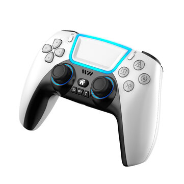How can I buy RALAN P03 Wireless Bluetooth Game Controller Gamepad With RGB Light Touchpad Back Key Support 3D Joystick Turbo for PS3 PS5 for PS4 Android HID Apple MFI for Nintendo Switch with Bitcoin