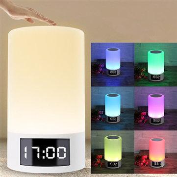 M6 LED Light Wireless bluetooth Speaker 4000mAh Colorful Bedroom Table Touch Lamp Clock Speaker