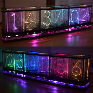 Geekcreit® DIY Imitate Glow Clock Kit Full Color RGB Glow Tube Clock LED Music Spectrum Kit
