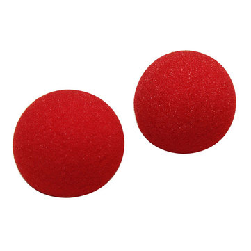2PCS Close Magic Street Trick Soft Sponge Ball Props Clown Nose