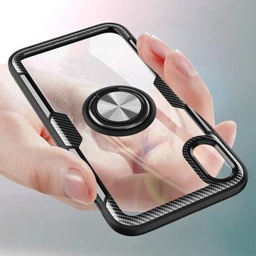 Bakeey Clear Ring Grip Kickstand Bilmontering Magnetisk Beskyttelsesveske For iPhone X/XS / XR / XS Max