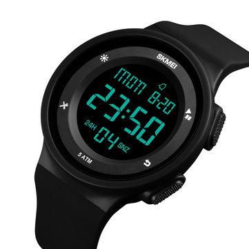 SKMEI 1445 Moda Silikon Su Geçirmez LED Outdoor Spor Dijital İzle