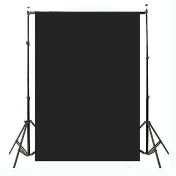 2.1x1.5m 5x7ft llanura delgada estudio de vinilo telón de fondo la fotografía apoyo de la foto negro