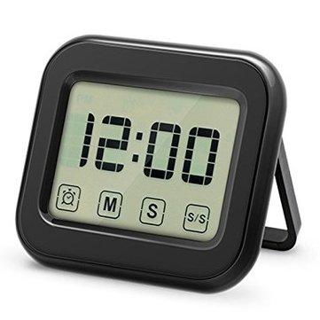 KCASA KC-CKT1000 Digital Kitchen Timer Large Touch Sensor LCD Display Magnetic Backing Loud Clock