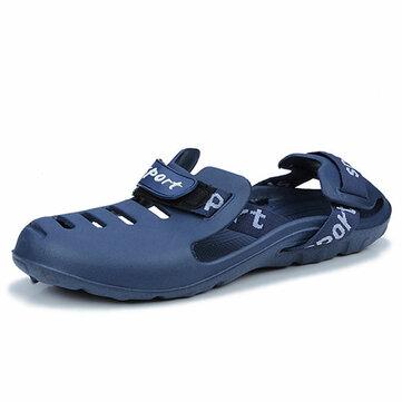 Hombre al aire libre Playa Elastic Impermeable Sandal Zapatos