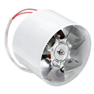 4Inch 100mm Inline Duct Fan Booster 25W Exhaust Blower Air Cooling Vent 140m3/h Ventilation Fan