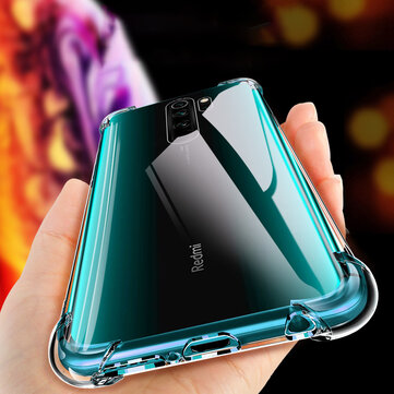 Bakeey Air Bag Shockproof Transparent Soft TPU Back Cover Protective Case for Xiaomi Redmi Note 8 Pro