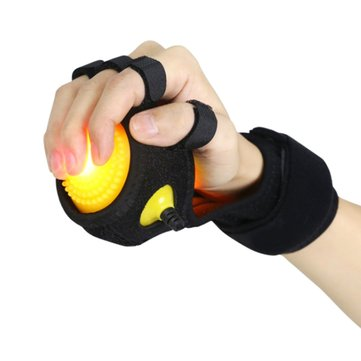 Hand Finger Massage Ball Wrist Support Rehabilitation Infrared Physiotherapy Ball with Wristband