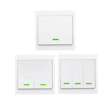 Wireless Remote Transmitter Lengket RF TX Cerdas Untuk Rumah Ruang Tamu Kamar Tidur 433MHZ 86 Panel Dinding Bekerja Dengan SONOFF RF / RFR3 / Slampher / iFan03 / 4CHProR2 / TX Series / 433 RF Bridge