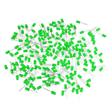 600pcs 5MM Green LED Diode Round Diffused Green Color Light Lamp F5 DIP Highlight