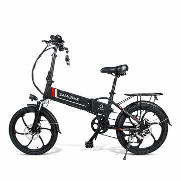 [EU Direct] SAMEBIKE 20LVXD30 10.4AH 48V 350W Electric Moped Bike 20 inch E-bike 35km/h Top Speed 80km Mileage Range Double Brake System Max Load 120kg EU Plug