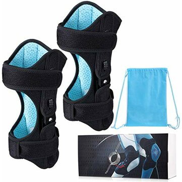 1Pcs New Knee Protection Booster 3 Speed Powerful Spring Force Adjustment Power Lifting Joint Support Anti-skid Can Relieve Sore Old Cold Leg Knee Pad