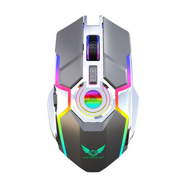 ZERODATE T30 2400DPI 2.4G Wireless RGB LED Rechargeable Ergonomic Design Gaming Mouse