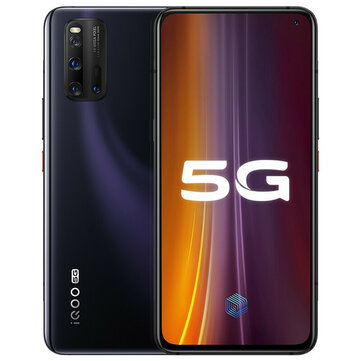 Vivo iQOO 3 5G Smartphone CN Version 6.44 inch FHD+ 180Hz Touch Sensing HDR10+ NFC 4440mAh 55W Super Flash Charge 48MP Quad Rear Cameras 8GB 128GB Snapdragon 865
