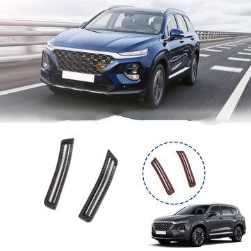 Hyundai सांता फ़े 2019 2020 के लिए कार्बन फाइबर कार इंटीरियर एक पिलर एयर कंडीशनिंग वेंट ट्रिम कवर स्टीकर सह