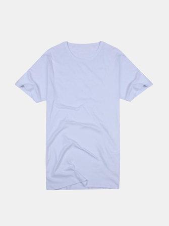 A&S Men's Slim Crew Neck Solid Cotton Short Sleeve Tee T-shirt
