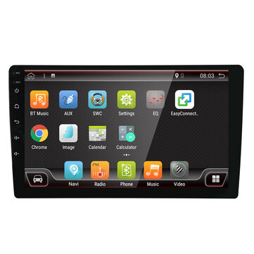 YUEHOO 9 Inch 2 DIN for Android 8.0 Car Stereo Radio 4 Core 2+32G Touch Screen 4G bluetooth FM AM RDS GPS DAB+