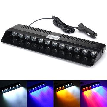 12 LED Luci stroboscopiche Ventosa Parabrezza di emergenza parabrezza lampada con adattatore per accendisigari 12V