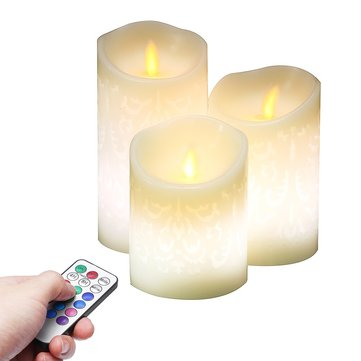 Battery Operated Flickering Flameless LED Candle Lamp Tea Light for Votive Home Garden Decoration