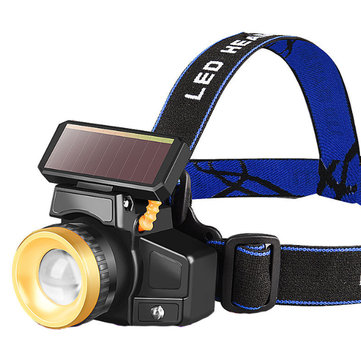 Buy BIKIGHT 50W 650LM 15H Endurance Rechargeable Solar Induction Headlamp High Light LED Telescopic Zoomable Long Shot Head Light  with Litecoins with Free Shipping on Gipsybee.com