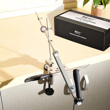 PRO RX-008 Apontador de facas de aço inoxidável profissional com Apontar Apontador de ângulo fixo multifuncional de pedra