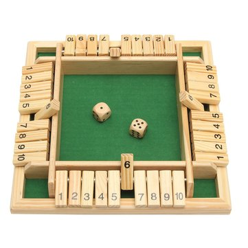 $12.9 for Wooden Traditional Four Sided 10 Number Pub Bar Board Dice Party Funny Game Toys