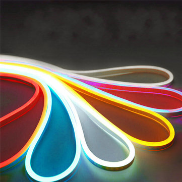 DC12V 5M Flexible Neon EL Wire Light SMD2835 Waterproof Silicone LED Strip Tube Lamp Outdoor Decoration