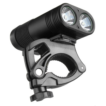 $15.99 For 3000LM Double LED Rechargeable Bicycle Head Light Bike Type_C Lamp+Rotating Mount Headlamp