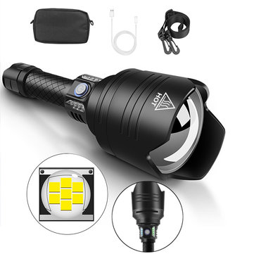 XANES® X915 P10 Telescopic Zoom Flashlight 4 Modes Waterproof With 18650 Battery Torch Light