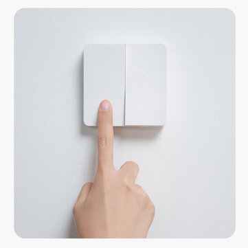 [הגעה חדשה] Xiaomi Mijia מתג קיר חכם מתג קיר יחיד / כפול / שלוש מתג בקרה כפולה פתוח 2 מצבים מתג מעבר אורות מנורה חכמים