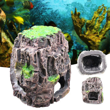 Buy Aquarium Fish Tank Ornament Rockery Hiding Cave Landscape Underwater  with Litecoins with Free Shipping on Gipsybee.com