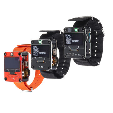 DSTIKE Orange/Black Deauther Wristband /Deauther Watch Smart Watch NodeMCU ESP8266 Programmable WiFi Development Board for Arduino