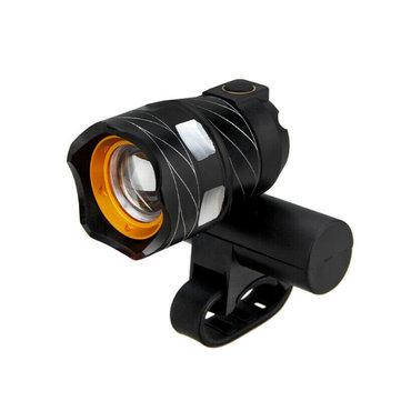 USB 15000LM Waterproof LED Bicycle Front Light Handlebar Bike Head Lamp Torch Cycling Light Lamp LED Flashlight - Black