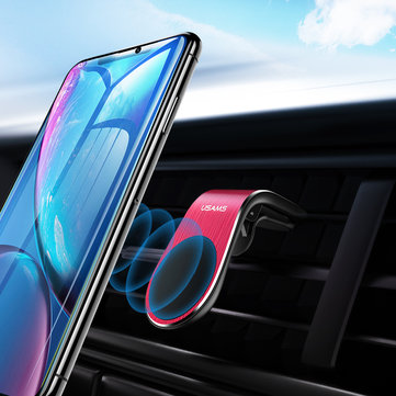 USAMS Metal Magnetic Adsorption Air Vent Car Phone Holder Car Mount For 3.5-6.5 Inch Smart Phone