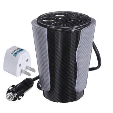 XUYUAN 600W Power Inverter DC 12V to AC 110/220V Converter with Voice Control LED Atmosphere Lamp for Car Home