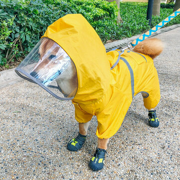 Pet Dog Raincoat Four Feet Waterproof PetS Articles Clothing Spring Suitable For Rainy Days From Xiaomi Youpin
