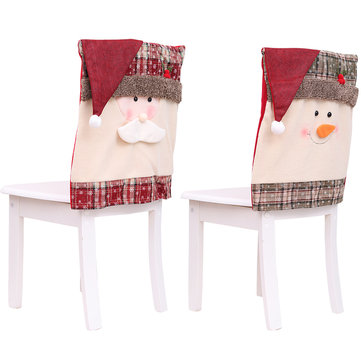 Loskii Christmas Decoration Home Decoration Chair Cover Restaurant Square Old Man's Bench Decorations