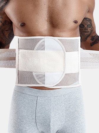 Buy Men Mesh Tummy Control Waist Trainer Breathable Workout Shaper Belt Underwear with Litecoins with Free Shipping on Gipsybee.com