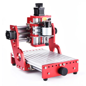 Red 1419 3 Axis Mini DIY CNC Router Standard Spindle Motor Wood Carving Engraving Machine Milling Engraver Woodworking