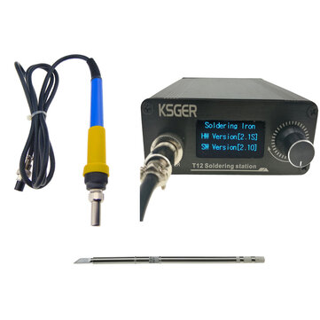 V2.1S T12 Digital Temperature Controller Soldering Station Electric Soldering Iron Tips T12-K + 907 Handle