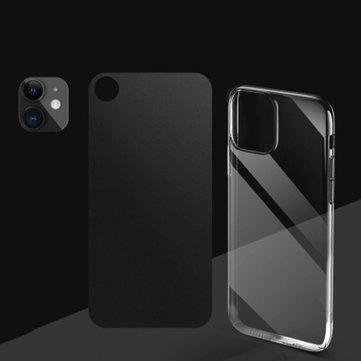 Bakeey 3 in 1 Konvertert Endring XR til 11 sekunders Endring Anti-riper Telefon Kameralinsebeskytter + Bakre matt flim + Gjennomsiktig TPU beskyttelsesetui til iPhone XR