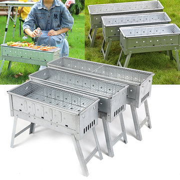 BBQ Barbecue Charcoal Grill Folding Portable Camping Garden Outdoor Travel Stove