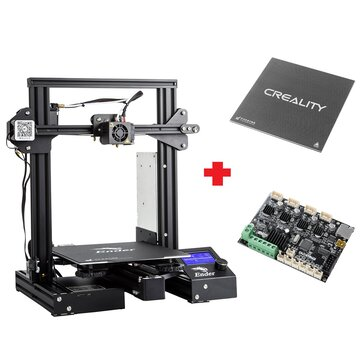 Creality 3D Customized Version Ender 3Xs Pro 3D Printer 220x220x250mm Printing Size With Magnetic Removable Sticker or Glass Plate Platform or V1.1.5 Super Silent Mainboard