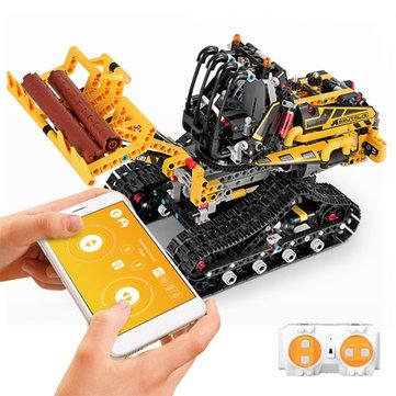 MoFun DIY 2.4G Blok Bangunan Programmable APP / Kontrol Tongkat Interaksi Suara Mobil RC Robot Cerdas