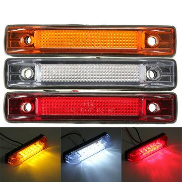 6 LED Clearance Side Marker Light Indicator Lamp Truck Trailer Lorry Van 12V 24V