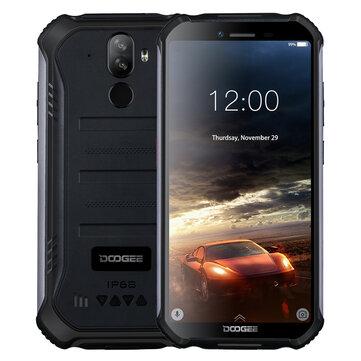 DOOGEE S40 lite 5,5 polegadas HD IP68 Waterdrop Android 9.0 4650mAh Desbloqueio facial 2GB RAM 16GB ROM MT6580 Quatro Core 3G Smartphone