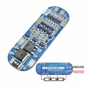 3S 10A 11.1V 12V 12.6V Lithium Battery Charger Protection Board Module for 18650 Li-ion Lipo Battery Cells BMS 3.7V