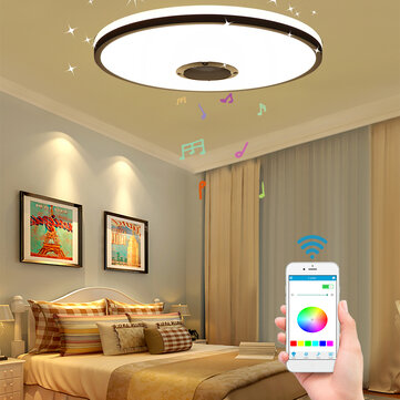 60W Modern Dimmable LED RGBW Bluetooth Music Ceiling Light